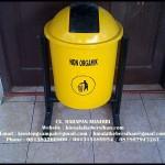 tempat sampah fiber bulat